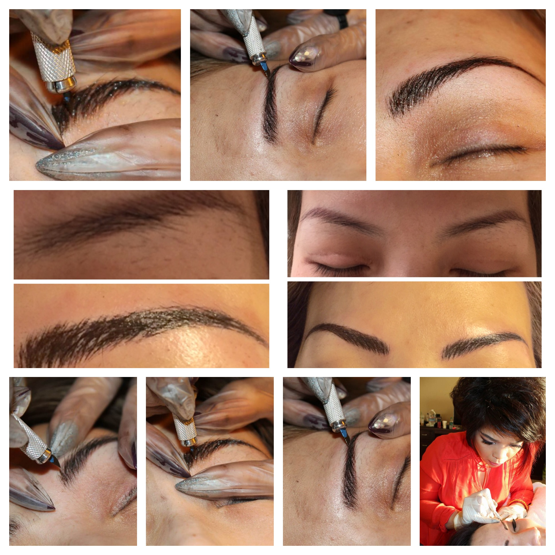 Sculpting Eyebrow Microblading with Tiffiny Luong!!